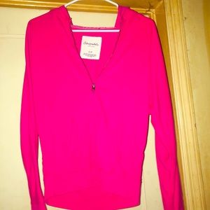 Aeropostale Hot Pink ZIP Up Hoodie Size Small